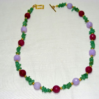 Jade and Hemiorphite Necklace