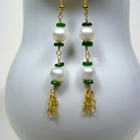 Rosary Gemstone Earrings