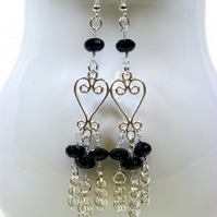 Black Spinel Gemstone Earrings