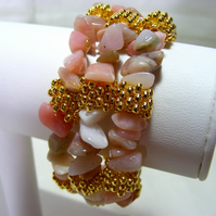 Pink Opal Gemstone Bangle
