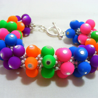 Multi-coloured Neon Bracelet