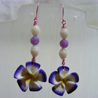 Polymer Pansy Earrings