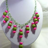 Pink and Lime Necklace