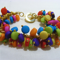 Multi-Coloured Disc Bracelet