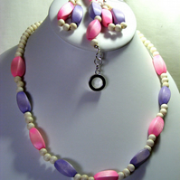 Pastel Wooden Jewellery Set