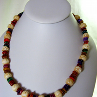 Multi-Coloured Shell Chip Necklace
