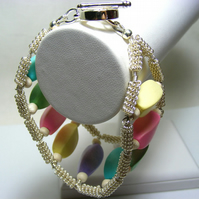 Pastel Colour Wooden Bracelet