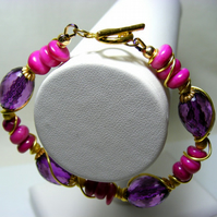 Shell and Acrylic Bracelet