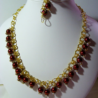 Red Pearl Jewellery Set