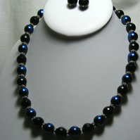 Black and Blue Jewellery Set