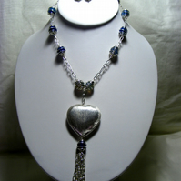 Blue and Silver Jewellery Set