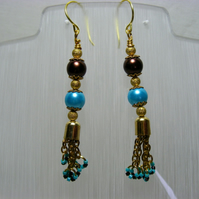 Chocolate and Turquoise Earrings