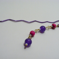 Pink and Purple Bookmark