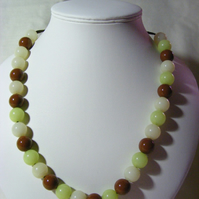 Choc Mint Cream Necklace