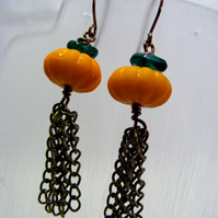 Pumpkin Tassel Earrings