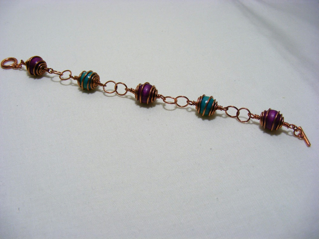 Rosary Caged Beaded Bracelet