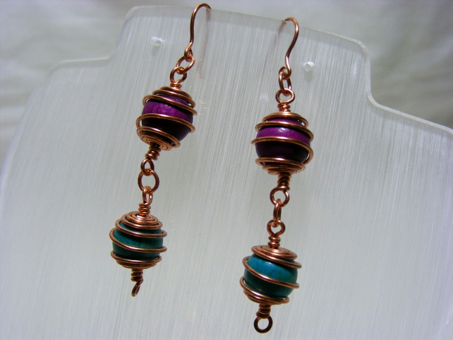 Rosary Caged Beaded Earrings
