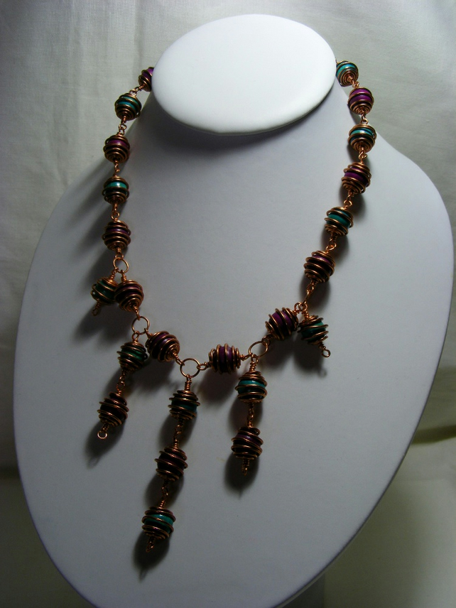 Rosary Caged Beaded Necklace