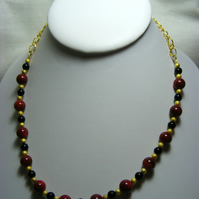 Red Bamboo Necklace