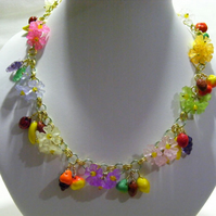 Flowers and Fruit Necklace