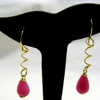 Pink Quartzite Drop Earrings