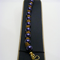 Purple Shell Pearl Bracelet