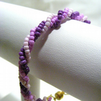 Pinks and Purples Twisted Bracelet