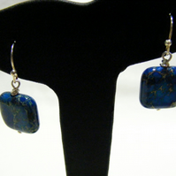 Blue Impression Jasper Earrings