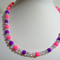 Neon Purple and Pink Jewellery Set