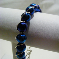 Blue Colour Hematite Bracelet