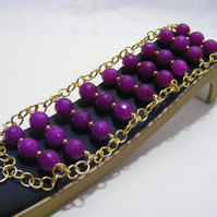 Purple Quartzite Cuff