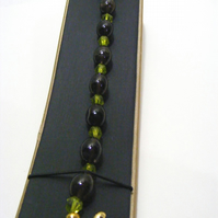 Smokey Quartz and Green Quartz Bracelet
