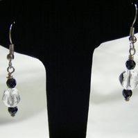 Hematite and Quartz Earrings