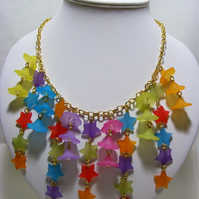 Stars and Flowers Necklace
