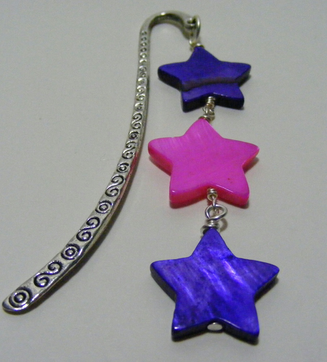 Purple and Pink Shell Star Bookmark
