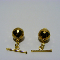 Golden Colour Hematite Cufflinks