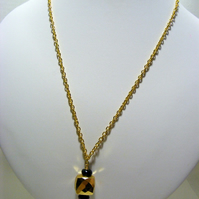 Spinel and Pyrite Gemstone Necklace