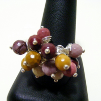 Mookaite Adjustable Gemstone Ring