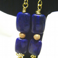 Lapis Lazuli Chain Earrings