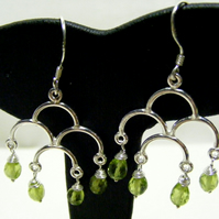 Peridot and 925 Sterling silver Earrings