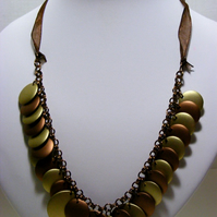 Disc Chainmaille Necklace.