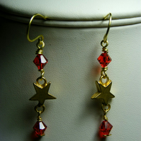 Swarovski Crystal and Star Earrings