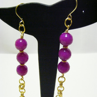 Purple Quartzite Dangle Earrings