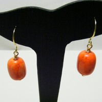 Orange Magnesite Earrings