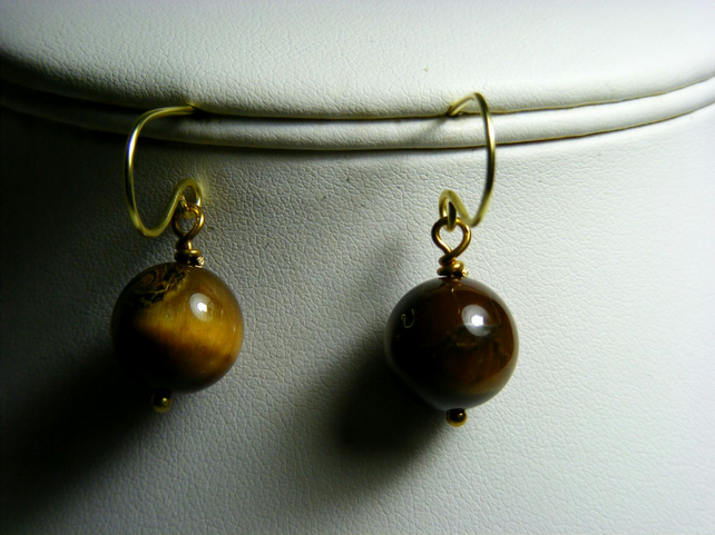 Yellow Tiger's Eye Earrings