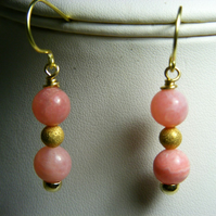 Pink Aragonite Gemstone Earrings