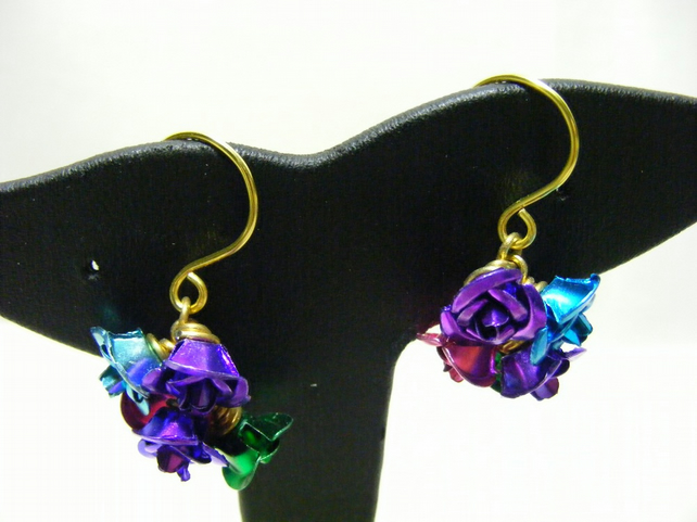 Aluminium Flower Earrings