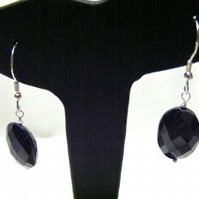 Black Spinel and Sterling Silver Gemstone Earrings