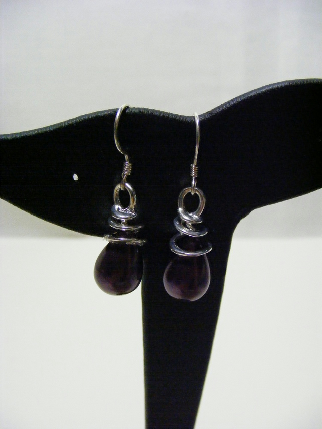 Sterling Silver and Shell Pearl Drop Earrings