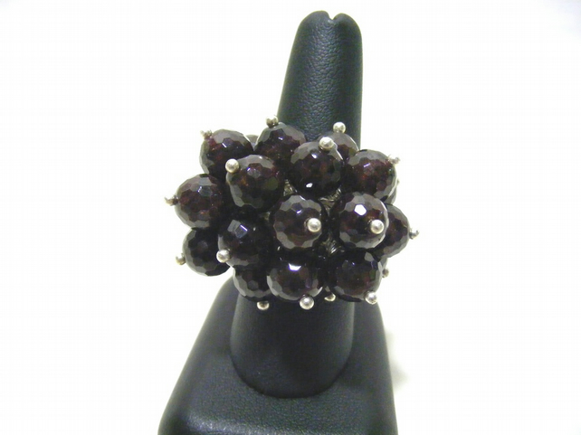 Garnet Gemstone Adjustable Ring